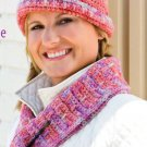 W708 Crochet PATTERN ONLY Mosaic Scarf & Matching Cloche Hat Pattern