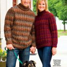 W710 Crochet PATTERN ONLY His & Hers Outdoor Pullover Sweater Patterns