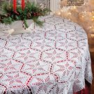 W719 Crochet PATTERN ONLY Lacy Star Snowflake Tablecloth Pattern