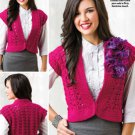 W720 Crochet PATTERN ONLY Ladies Finesse Vest Pattern