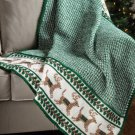 W721 Crochet PATTERN ONLY Prancing Reindeer Afghan Throw Pattern