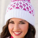 W725 Crochet PATTERN ONLY Honeycomb Stocking Hat Pattern
