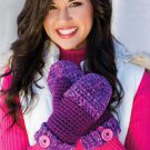 W726 Crochet PATTERN ONLY Chunky Monkey Mittens Pattern