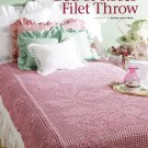W728 Filet Crochet PATTERN ONLY Bed of Roses Afghan Throw Pattern