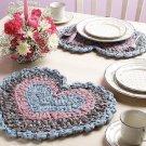 W729 Crochet PATTERN ONLY Rag Crochet Place Mat Placemat Pattern
