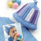 W730 Crochet PATTERN ONLY Baby Hat on a Ross Pattern Roll Stitch Used