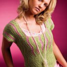 W743 Crochet PATTERN ONLY Simply Spring Sweater Top Pattern