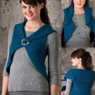 W752 Crochet PATTERN ONLY Ladies Circle Vest Pattern