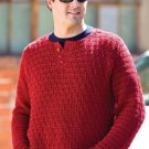 W756 Crochet PATTERN ONLY Men's Wine Country Pullover Sweater Pattern
