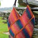 W757 Crochet PATTERN ONLY Windmill Tote Bag Purse Pattern