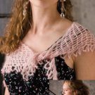 W758 Crochet PATTERN ONLY Delicate Lacy Feminine Shawl Pattern