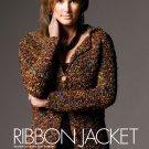 W763 Crochet PATTERN ONLY Ribbon Crochet Jacket Pattern Trendy Office