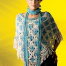 W768 Crochet PATTERN ONLY Over the Top Pretty Poncho & Scarf Pattern
