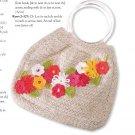 W771 Crochet PATTERN ONLY Fanciful Flowers Purse Bag Pattern