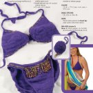 W777 Crochet PATTERN ONLY Crochet Bead Embellished Bikini Swimsuit Pattern