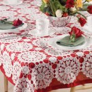 W778 Crochet PATTERN ONLY Chain of Hearts Tablecloth Tale Cover Pattern