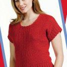 W782 Crochet PATTERN ONLY Ladies Firecracker Top Short Sleeve Pattern