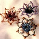 W784 Beaded PATTERN ONLY Floral Fashion Designer Brooch Pin Ornament Pattern