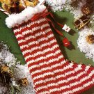 W789 Crochet PATTERN ONLY Candy Cane or Mitten Christmas Stocking Patterns