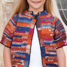 W799 Crochet PATTERN ONLY Child's Cool Stripes Cardigan Sweater Pattern