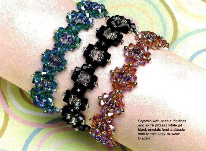 W802 Bead PATTERN ONLY Beaded Dazzling Diamonds Bracelet Pattern