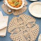 W805 Crochet PATTERN ONLY Pineapple Table Mat like a Trivet Pattern
