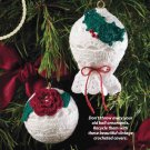 W814 Crochet PATTERN ONLY Rose or Holly Motif Christmas Ornament Cover Pattern