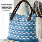 W815 Crochet PATTERN ONLY Felted Tapestry-Style Ripple Classy Tote Bag Pattern