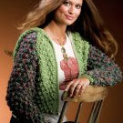 W821 Crochet PATTERN ONLY Metro Maven City-Chic Hooded Jacket Pattern