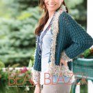 W822 Crochet PATTERN ONLY Ladies Glamorous Smart-Looking Jacket Blazer Pattern