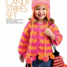W826 Crochet PATTERN ONLY Candy Stripes Jacket Purse Belt Peruvian Hat Pattern