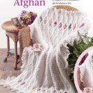 W829 Crochet PATTERN ONLY Heirloom Ribbon Embroidery Afghan Throw Pattern