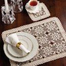 W835 Crochet PATTERN ONLY Summer Dreams Place Mat & Coaster Set Pattern