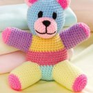 W836 Crochet PATTERN ONLY Patchwork Teddy Bear Toy Doll Pattern