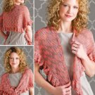 W840 Crochet PATTERN ONLY Sweet Finesse Wrap Shawl Pattern