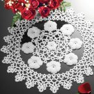 W849 Crochet PATTERN ONLY Sparkling Christmas Rose Centerpiece Doily Pattern
