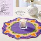 W850 Crochet PATTERN ONLY Fiesta Table Mat Pattern
