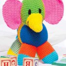 W852 Crochet PATTERN ONLY Patchwork Elephant Toy Doll Pattern