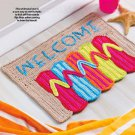 W853 Crochet PATTERN ONLY Flip Flop Welcome Doormat Pattern
