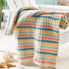 W854 Crochet PATTERN ONLY Summer Stripes Beach Towel Pattern