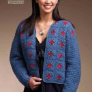 W858 Crochet PATTERN ONLY Uptown Granny Square Jacket Pattern