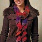 W861 Crochet PATTERN ONLY Sassy Spiral Scarf Pattern