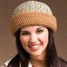W863 Crochet PATTERN ONLY Double-Warm Hat Pattern
