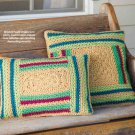 W864 Crochet PATTERN ONLY Log Cabin Pillows Pattern