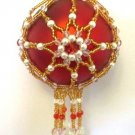 Z244 Bead PATTERN ONLY Beaded Noel Christmas Ornament Cover