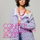 Z057 Crochet PATTERN ONLY Confetti Cross-Stitch Jacket Pattern