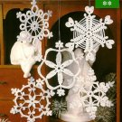 Z060 Crochet PATTERN ONLY Silent Snowfall Snowflake Christmas Ornament Patterns