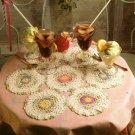 Z065 Crochet PATTERN ONLY Nana's Flower Garden Doily Pattern