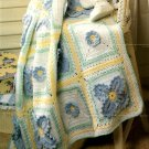 Z069 Crochet PATTERN ONLY Floral Hugs & Kisses X's and O's Afghan Pattern