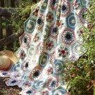 Z073 Crochet PATTERN ONLY Floral Sampler Afghan Pattern